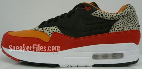 competitive price 2a7fa e07a3 Nike Air Max 1 - Orange   Red - Black Safari Print