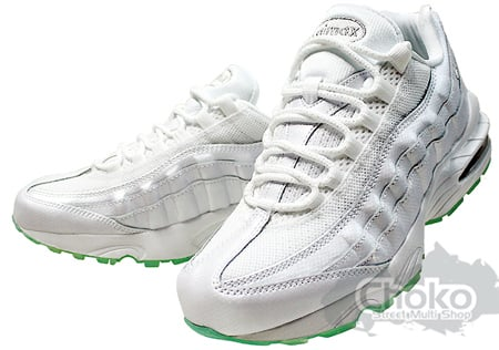 all white 95 air max