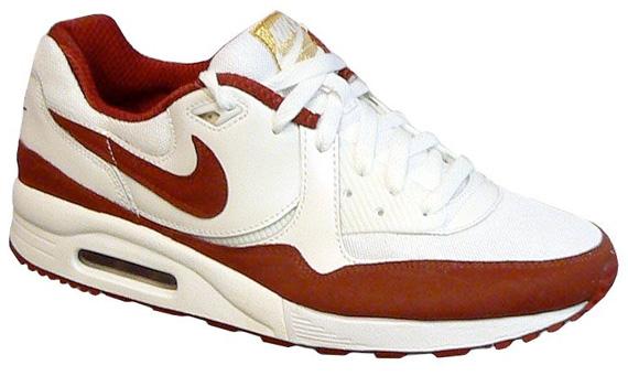 Nike Air Max Light - White / Dark Red