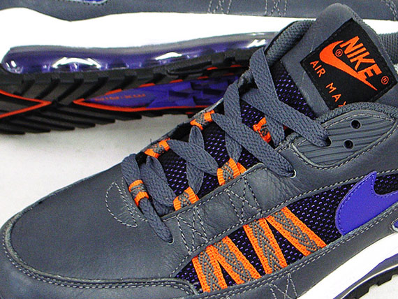 Nike Air Max Terra Ninety - Grey / Pure Purple - White - Orange Blaze
