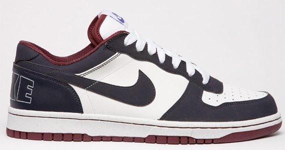 Nike Big Nike Low - White / Anthracite - Burgundy