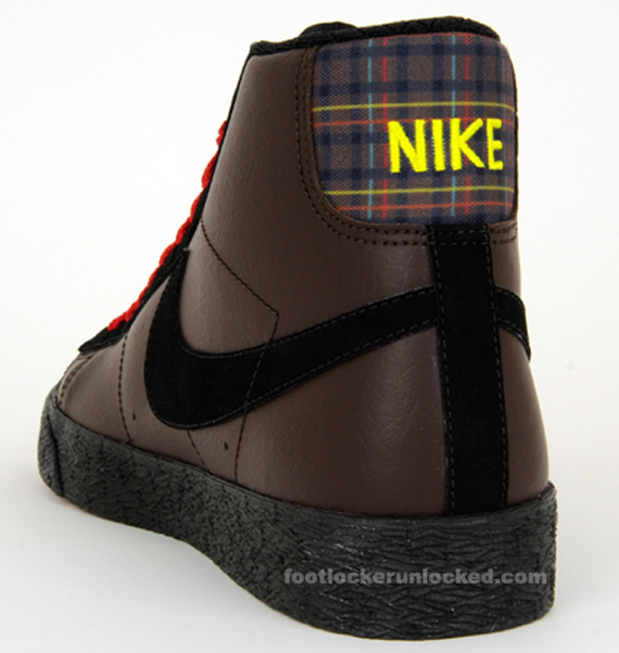 Nike Blazer High - Brown / Black - Red