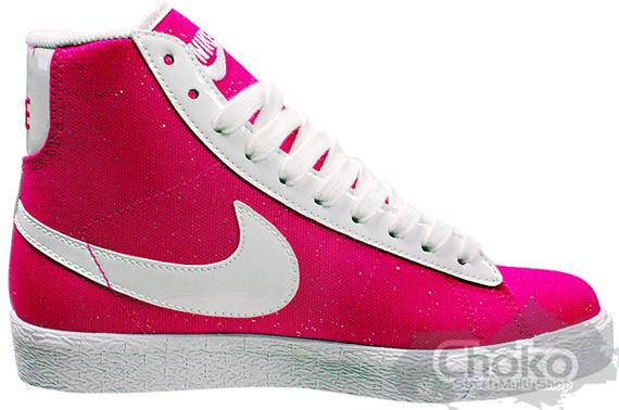 Nike Sportswear Blazer Mid Canvas - Pink / White