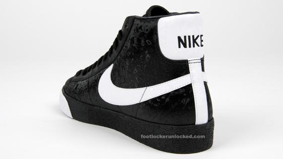 nike blazer high white black