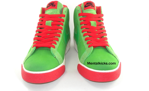 Nike Blazer High SB Green Spark / Pimento