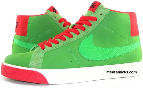 Nike Blazer High SB Green Spark / Pimento | SneakerFiles
