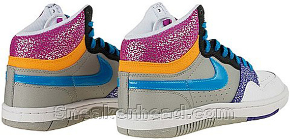 Nike Court Force High - Medium Grey / Neon Turquoise - Varsity Purple - Rave Pink