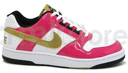 Nike Delta Force Low SI - White / Metallic Gold - Vivid Pink - Black