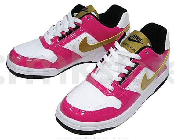 Nike Delta Force Low SI - White / Metallic Gold - Vivid Pink - Black