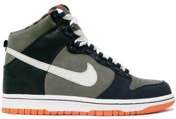 Nike Dunk High Premium HT - Olive / Orange