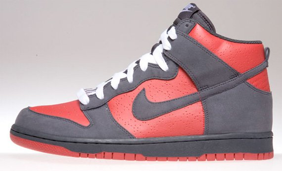 Women's Dunk High Top Shoes black red. ID:3993. Women Sz $ 59.99