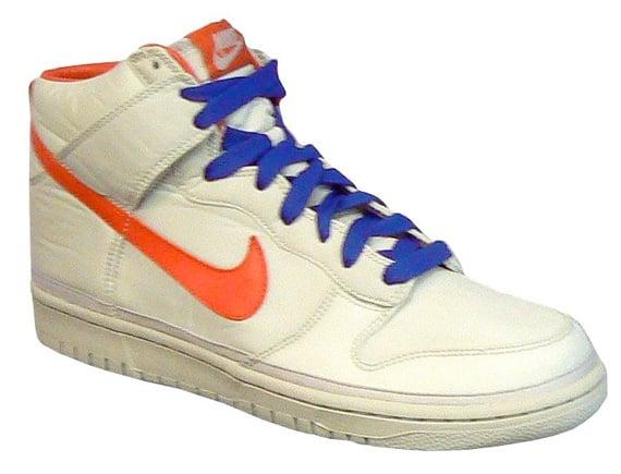 Nike Dunk High Nylon - Grey / Blue - Orange