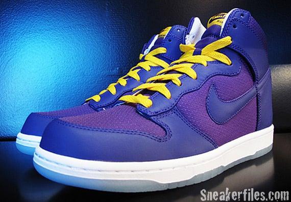Nike Dunk High Premium - Varsity Purple / Varsity Maize - White