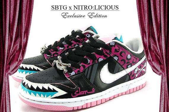"""SBTG x NITRO:LICIOUS Sawtooth """"Poison Ivy"""" Nike Dunk Women's"""