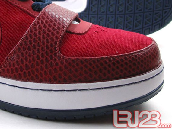 Nike Zoom LeBron 6 Low Sample - Varsity Crimson / White / Midnight Navy