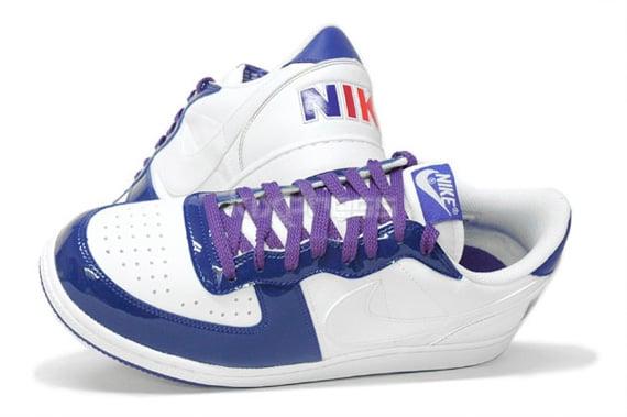 Nike Terminator Low Basic Patent-  White / Purple & White / Maize