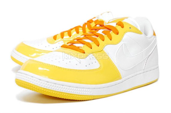 Nike Terminator Low Basic Patent-  White / Purple & White / Maize