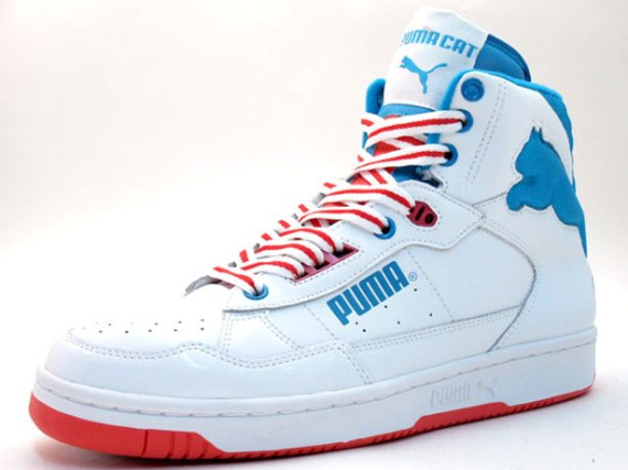Puma Cat 2 ST White Red Blue
