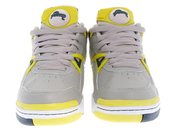 Reebok Court Victory II (2) - Grey / Navy / Yellow - White