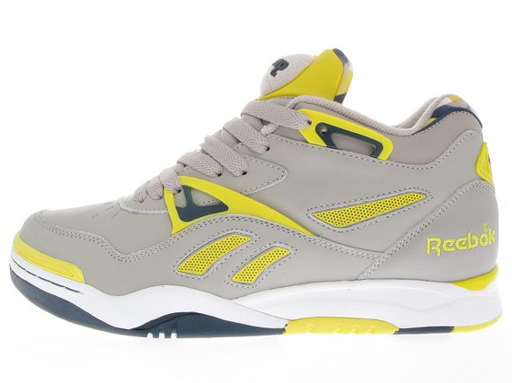 Reebok Court Victory II (2) - Grey / Navy / Yellow - White