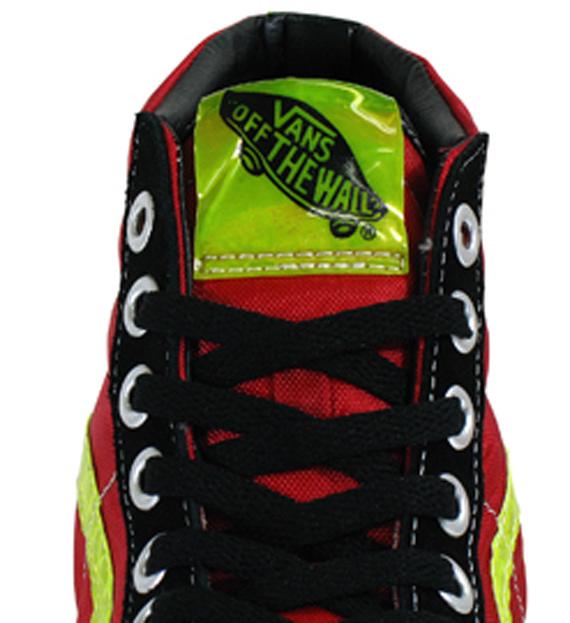 Vans SK8-Hi - Black / Red - Neon