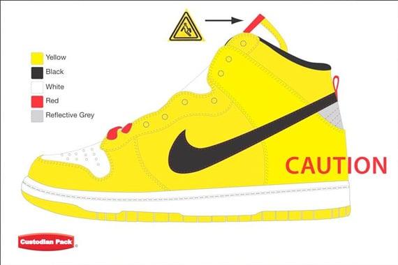 Wet Floor Nike Dunk High SB - Custodian Pack