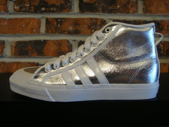 adidas Nizza High - Metallic Gold & Silver