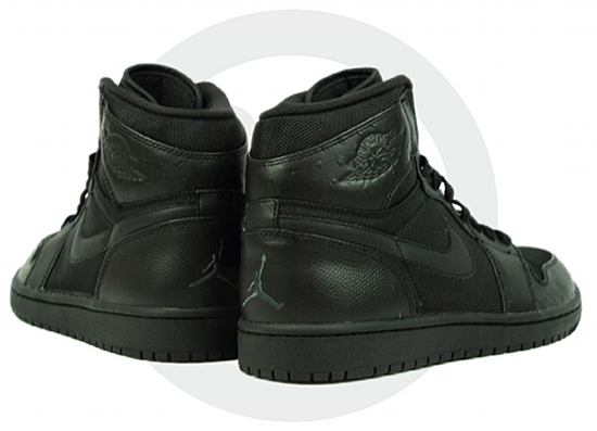 Air Jordan 1 (I) High Ostrich - Black / Black