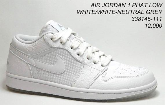 Air Jordan 1 (I) Phat Low - White / White - Neutral Grey