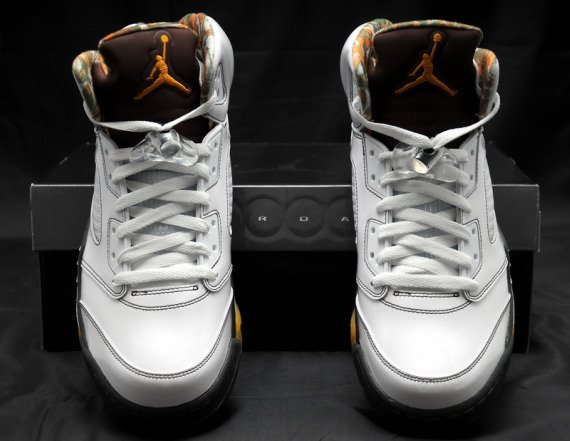 Air Jordan 5 (V) - White / Dark Cinder - Del Sol - Now Available