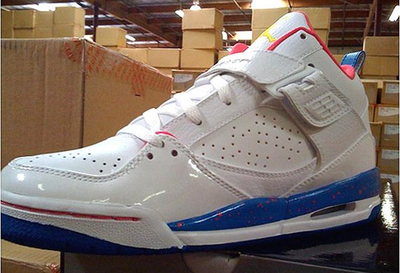 Air Jordan Flight 45 GS - White / Pink - Blue