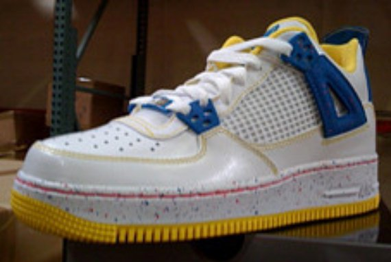 Air Jordan Fusion 4 (IV) GS Sample - White / Yellow - Blue