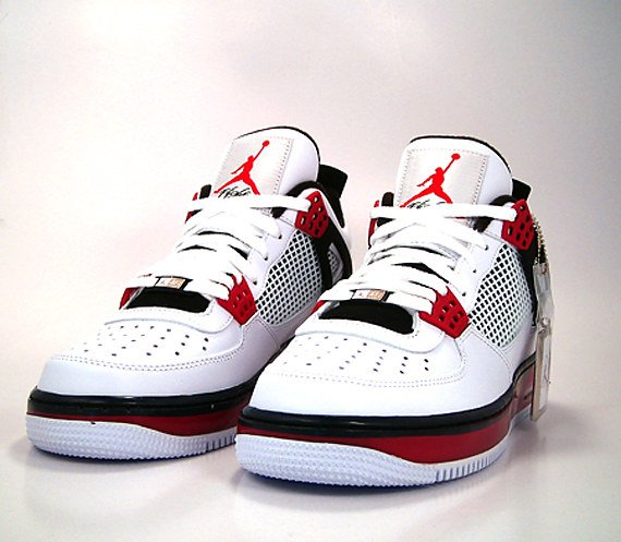 air jordan fusion 4 white varsity red-black laces