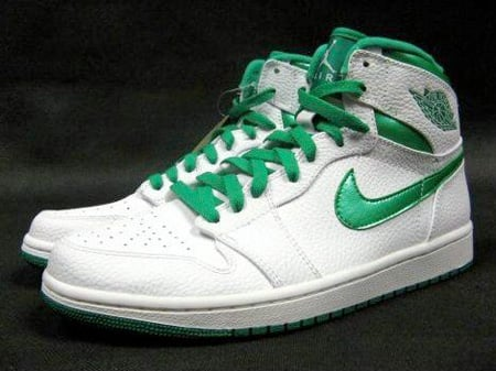 Air Jordan I (1) High - White / Metallic Green