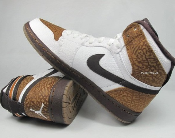 Air Jordan Retro I (1) High Strap Brown Elephant Print