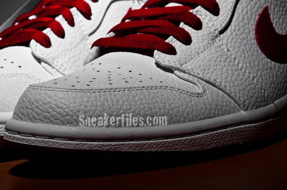 Detailed Look: Air Jordan 1 (I) High - White / Varsity Red