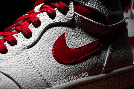 Detailed Look: Air Jordan 1 (I) High - White / Varsity Red