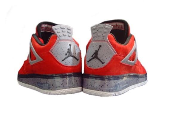 Air Jordan Fusion 4 Premier - Varsity Red & Cement