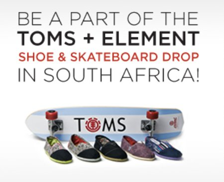 Join TOMS Shoes x Element in South Africa