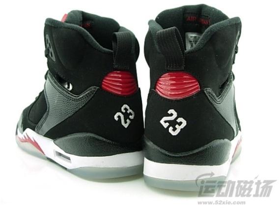 Jordan 60+ Black Varsity Red White GS Detailed Look