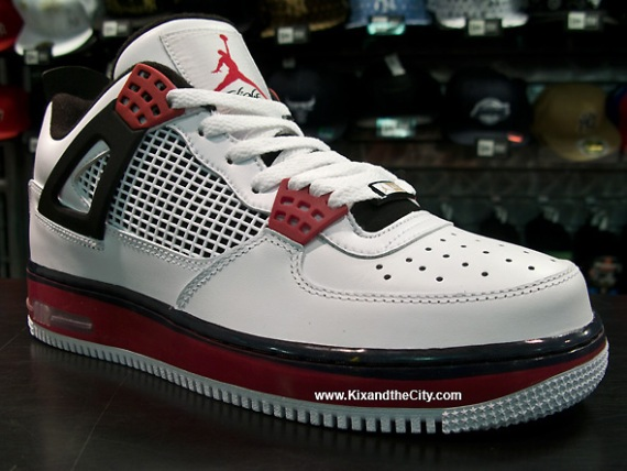 Air Jordan Fusion IV (4) White/Varsity Red - Detailed Look