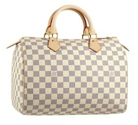 louis vuitton speedy 30 capucine damier azur purse handbag