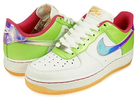 Nike Air Force 1 (GS) - White / Citron - Light Melon - Vivid Pink