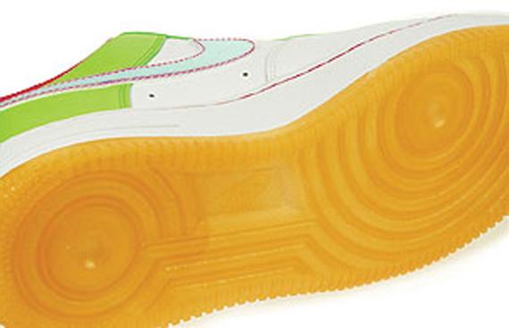 Nike Air Force 1 (GS) - White / Citron - Light Melon - Vivid Pink
