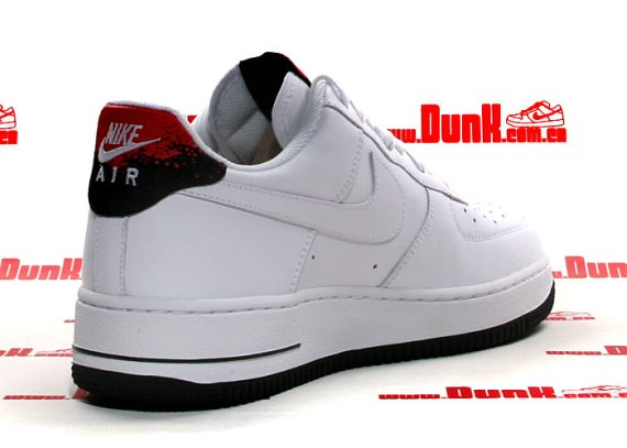 Nike Air Force 1 White Hot Red Black