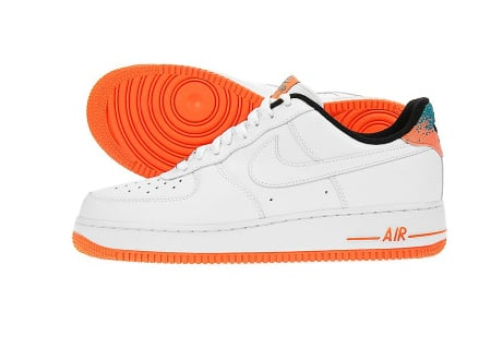 Nike Air Force 1 Low '07 - White / Total Orange | SneakerFiles