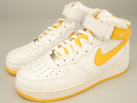 nike air force 1 mid grey white and yellow