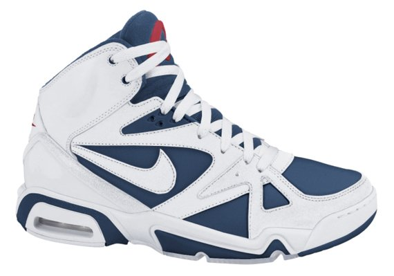Nike Air Hoop Structure LE - White / Navy Blue - Red