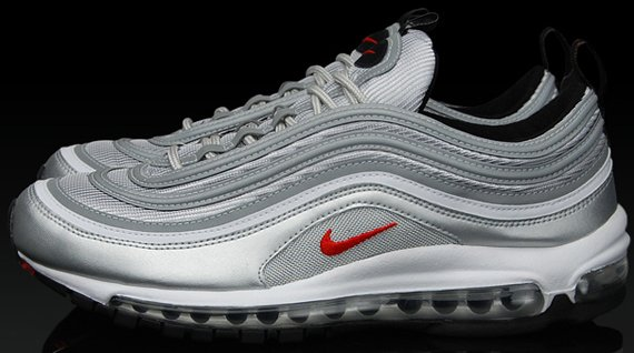 Nike Air Max 97 - Metallic Silver / Varsity Red / Neutral Grey
