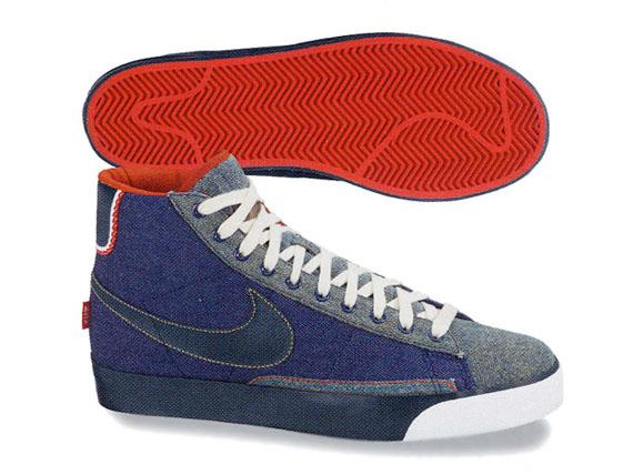 Nike Blazer Mid Premium - Denim